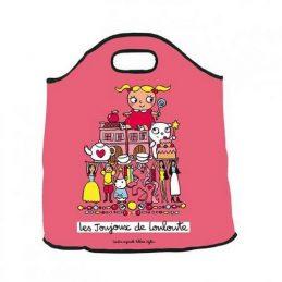 Bolsa juguetes rosa