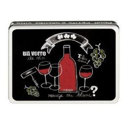 Caja metal vino