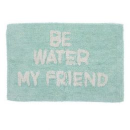 "Alfombra baño ""Be water my friend"""