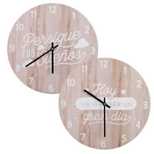 Reloj pared madera frase chambao decoraci n - Chambao decoracion ...