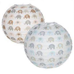 Lámpara papel elefantes