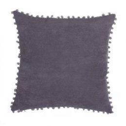 Cojín borlas gris 45*45