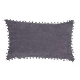 Cojin borlas gris 30*50