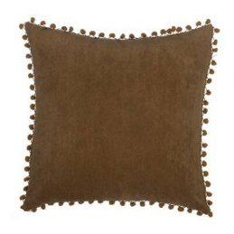 Cojín borlas marrón