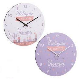 "Reloj pared ""Relájate y tómate tu tiempo"""