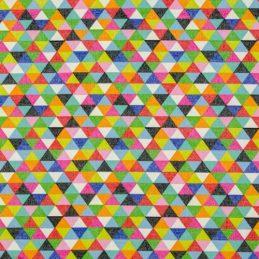 Tejido patchwork triángulos