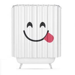 Cortina baño emoticonos