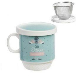 Taza té con tapadera y filtro