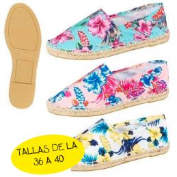 Zapatillas esparto flores