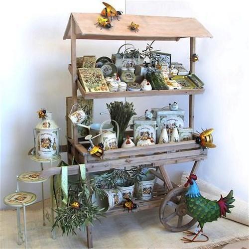 Estanteria carro madera natural chambao decoraci n - Chambao decoracion ...